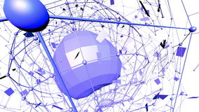 Абстрактные фиолетовые развевая решетка 3D или сетка пульсируя геометрических объектов Польза как сброс абстрактных fantas abstra бесплатная иллюстрация