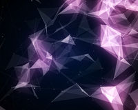 Абстрактные фиолетовые частицы треугольника иллюстрация вектора