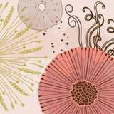 Абстрактные флористические волшебные цветки картины Ультрамодной текстуры нарисованные рукой Современный абстрактный дизайн для,  Стоковые Фотографии RF