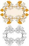 абстрактные флористические рамки Стоковое Изображение