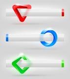 Абстрактные формы и знамена Стоковые Фотографии RF