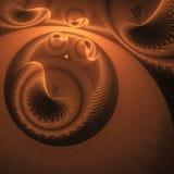 Абстрактные формы фантазии на черной предпосылке Стоковая Фотография RF