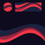 Абстрактные формы для графика сети Стоковое Изображение
