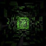 Абстрактные футуристические обои предпосылки комнаты Sci Fi темные светлые иллюстрация вектора
