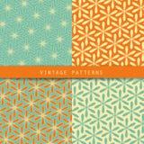 Абстрактные флористические ретро установленные картины Винтажный цвет стиля Смогите быть использовано для дизайна карточки, обоев Стоковые Фото