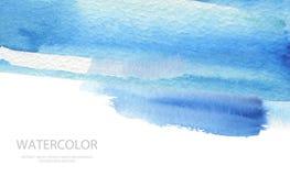 Абстрактные ходы щетки акварели покрасили предпосылку PA текстуры Стоковые Изображения
