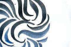 Абстрактные ходы щетки и брызгают краски на бумаге Стоковое фото RF