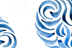 Абстрактные ходы щетки и брызгают краски на бумаге Стоковые Изображения RF