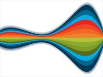 абстрактные цветастые волны радуги Стоковое Изображение
