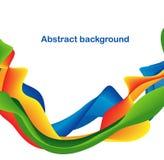 абстрактные цветастые линии Стоковое фото RF