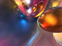 абстрактные цветастые лоснистые 3d представляют глянцеватым Стоковое Фото