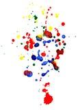 абстрактные цветастые падения Стоковое фото RF