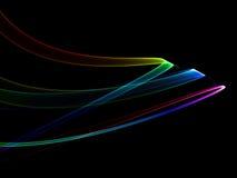 абстрактные цветастые тесемки иллюстрация вектора