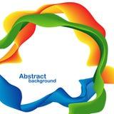 абстрактные цветастые формы Стоковая Фотография RF