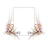 абстрактные цветастые elemen рамка Стоковая Фотография