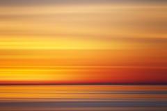 Абстрактные цвета захода солнца, Стоковое Изображение