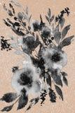 Абстрактные цветки акварели иллюстрация штока