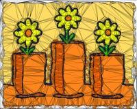 Абстрактные цветки геометрического дизайна иллюстрация вектора