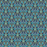 Абстрактные цветки и геометрические формы с планом золота Стоковые Фотографии RF