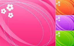 абстрактные цветки конструкции Стоковое Изображение RF