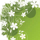 абстрактные цветки предпосылки иллюстрация вектора