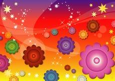абстрактные цветки предпосылки Стоковое Изображение RF