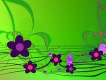 абстрактные цветки предпосылки Стоковая Фотография RF