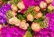 абстрактные цветки предпосылки Конец-вверх Стоковые Изображения RF