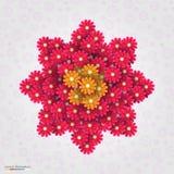 абстрактные цветки предпосылки также вектор иллюстрации притяжки corel Стоковые Изображения RF