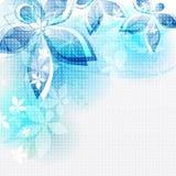 Абстрактные цветки сини предпосылки. Illustrat вектора Стоковые Фото