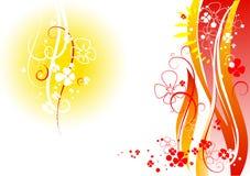 абстрактные цветки украшения Стоковая Фотография RF