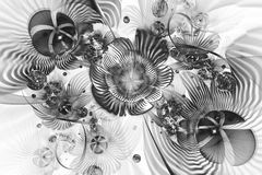 Абстрактные цветки фантазии на белой предпосылке Стоковые Фотографии RF