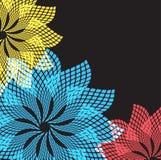 абстрактные цветки форматируют вектор Стоковые Фото
