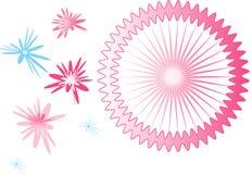 абстрактные цветки Стоковое фото RF