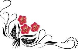 абстрактные цветки Стоковое Изображение