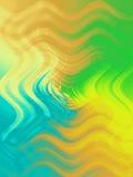 абстрактные цветы засаживают воду иллюстрация вектора