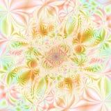абстрактные цветы предпосылки конструируют шаблон лета Стоковое фото RF
