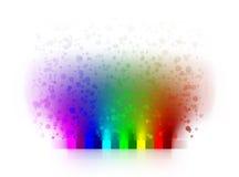 Абстрактные цветы радуги иллюстрация штока