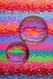 абстрактные цветы стеклянные Стоковое Изображение