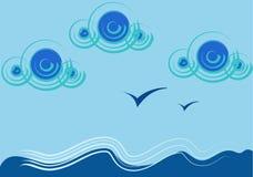 абстрактные чайки Стоковое Изображение
