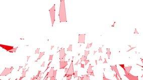 Абстрактные чистые красные развевая решетка 3D или сетка как мечт предпосылка Красная геометрическая вибрируя окружающая среда ил иллюстрация вектора
