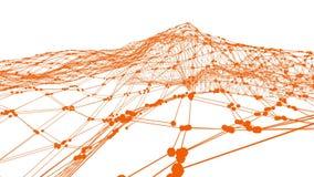Абстрактные чистые оранжевые развевая решетка 3D или сетка как отлично предпосылка Оранжевая геометрическая вибрируя окружающая с бесплатная иллюстрация