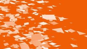 Абстрактные чистые оранжевые развевая решетка 3D или сетка как фон геометрии Оранжевая геометрическая вибрируя окружающая среда и иллюстрация вектора