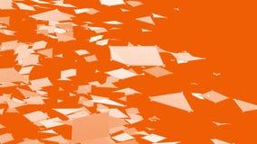 Абстрактные чистые оранжевые развевая решетка 3D или сетка как ясно фон Оранжевая геометрическая вибрируя окружающая среда или пу иллюстрация вектора