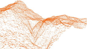 Абстрактные чистые оранжевые развевая решетка 3D или сетка как симпатичная предпосылка Оранжевая геометрическая вибрируя окружающ иллюстрация штока
