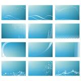 Абстрактные шаблоны визитной карточки Стоковые Фотографии RF