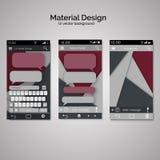 Абстрактные шаблоны пользовательского интерфейса бумаги перекрытий комплект ui m Стоковое Изображение