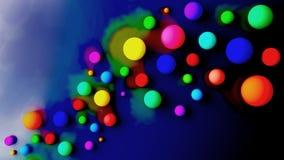 Абстрактные шарики с акварелью Стоковая Фотография RF