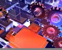 абстрактные шестерни конструкции Стоковая Фотография