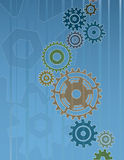 абстрактные шестерни предпосылки Стоковое Изображение RF